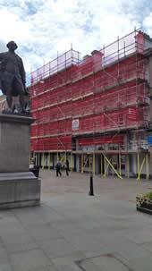 Scaffolding in Shrewsbury Town
