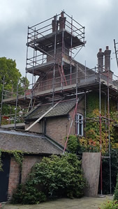 Scaffolding to Old Rectory